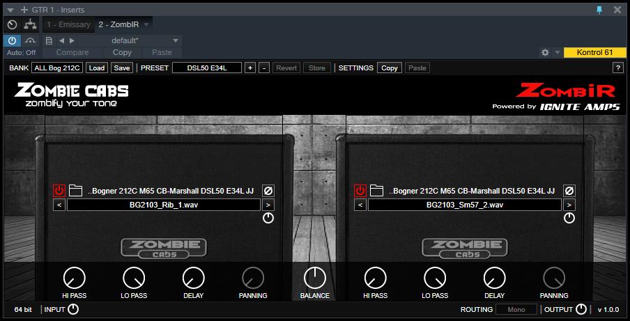Free – ZombIR Impulse Response Loader – for Mac – VST and Audio
